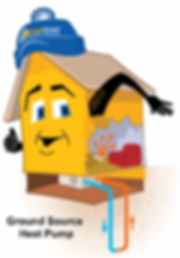 Mascot Comfy Graphic of Geothermal system