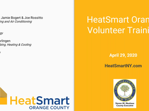 HeatSmart Orange Volunteer Kickoff Webinar.
