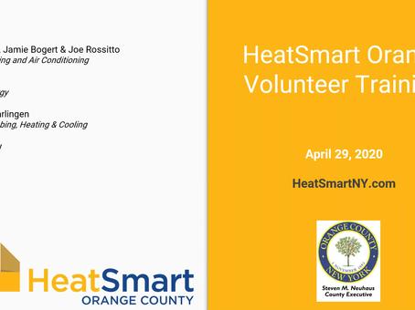 HeatSmart Orange Volunteer Kickoff Webinar.