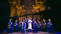 Tanisha Spring as Nefertari, Liam Tamne as Ramses, Debbie Kurrup as Queen Tuya