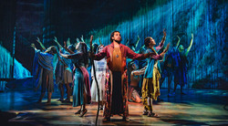 Luke Brady as Moses with the Company of The Prince of Egypt
