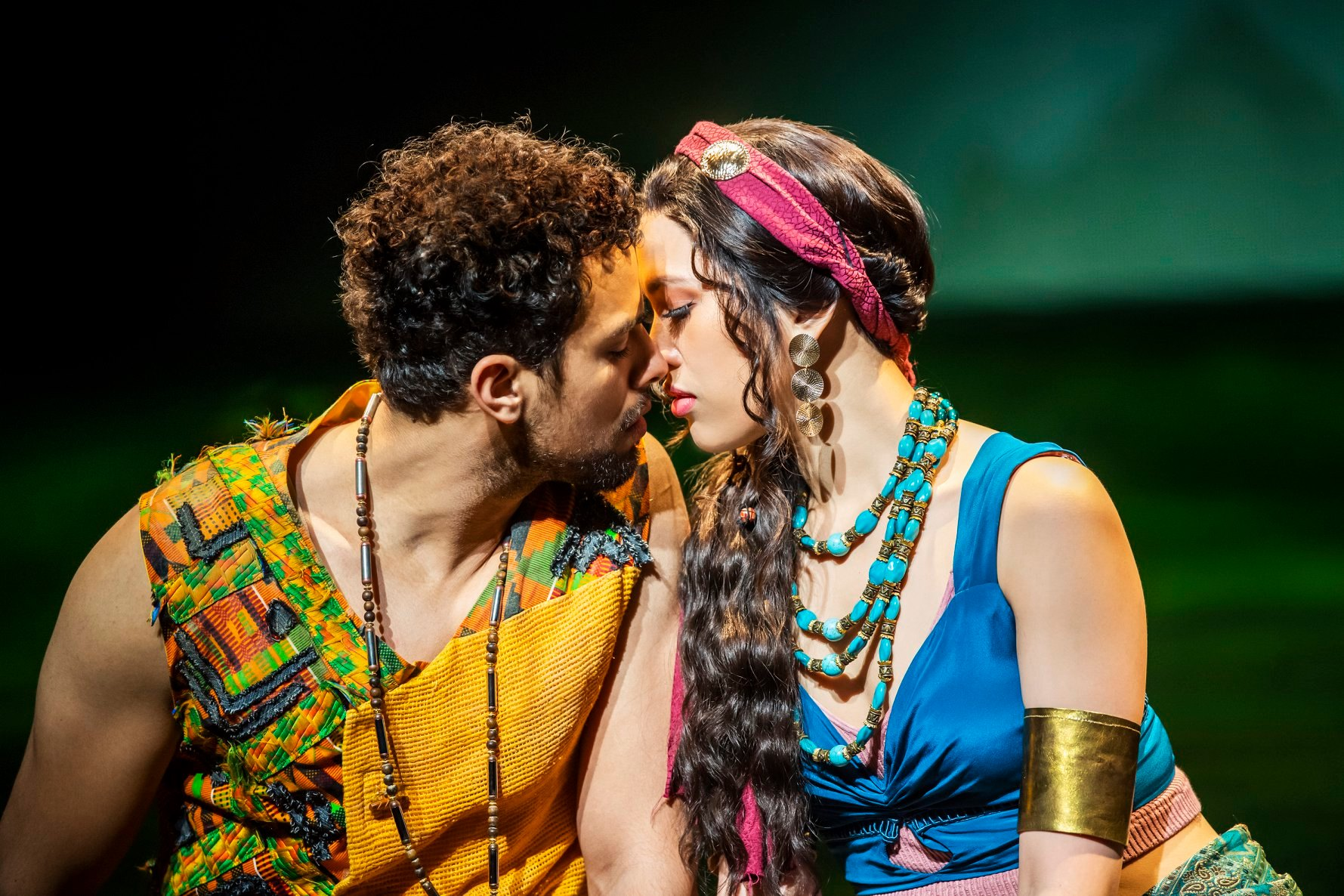 Luke Brady as Moses & Christine Allado as Tzipporah