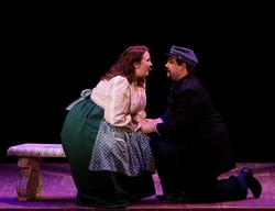 Sydney Rose Hover as Meg & Ethan Park as John Brooke
