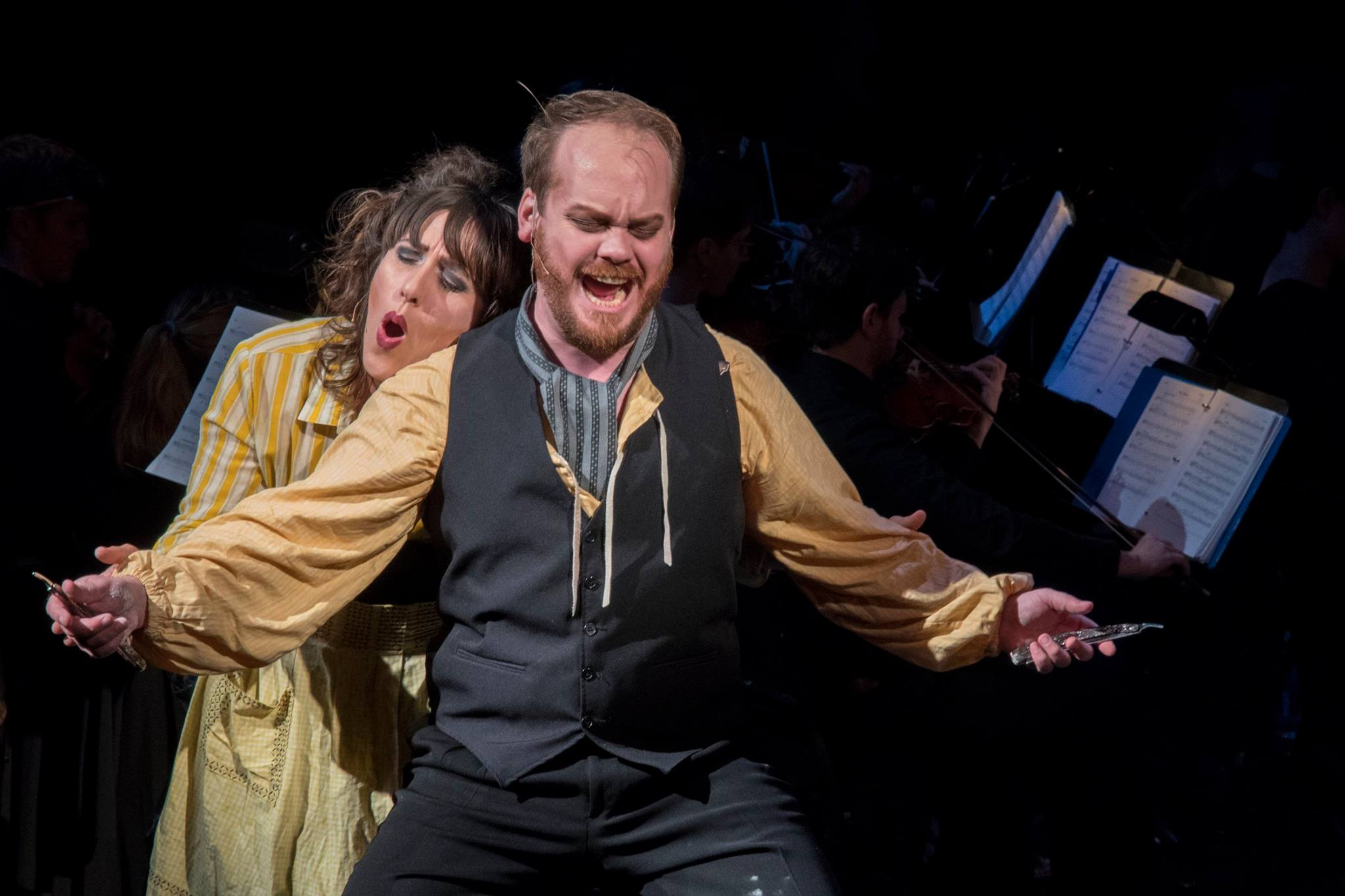 The company of Sweeney Todd: In Concert