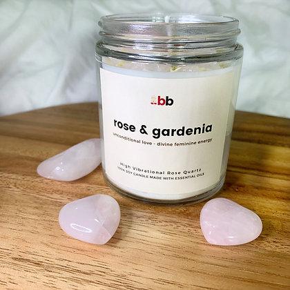 Rose & Gardenia Crystal Candle