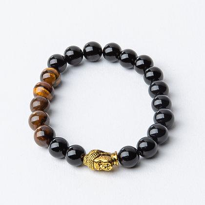 Onyx x Tiger's Eye x Gold Buddha