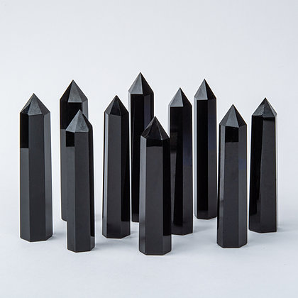 Obsidian Crystal Wand
