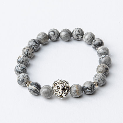 Grey Jasper x Silver Lion