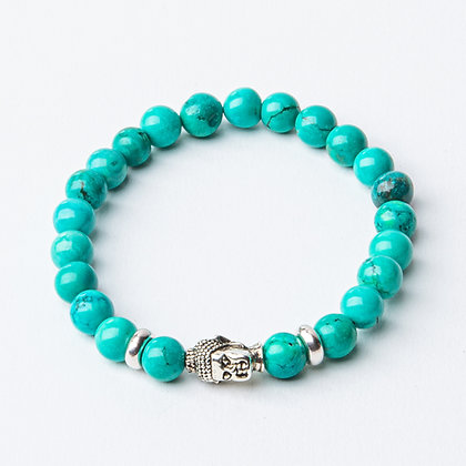 Turquoise x Silver Buddha