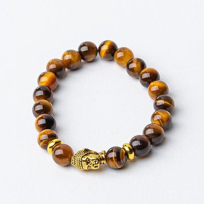 Tiger's Eye x Gold Buddha