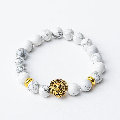 Howlite x Gold Lion