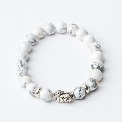 Howlite x Silver Buddha