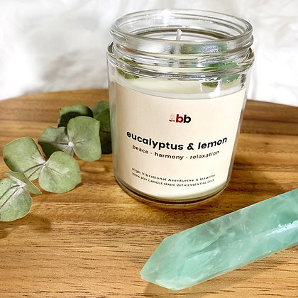 Eucalyptus & Lemon Crystal Candle
