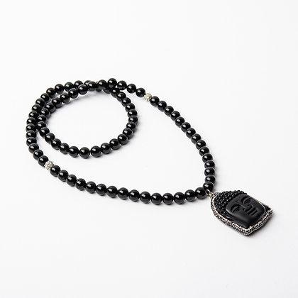 Obsidian Buddha Mala