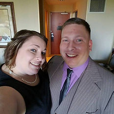 My hubby and I at my cousin's wedding