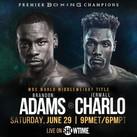 Brandon Adams set to fight Jermall Charlo