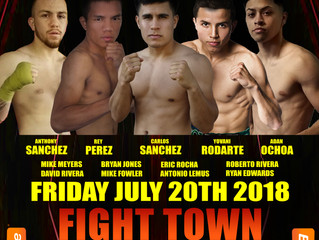 """Elite Pro Boxing: R.E.D. Boxing Promotions presents """"FIGHT TOWN"""""""