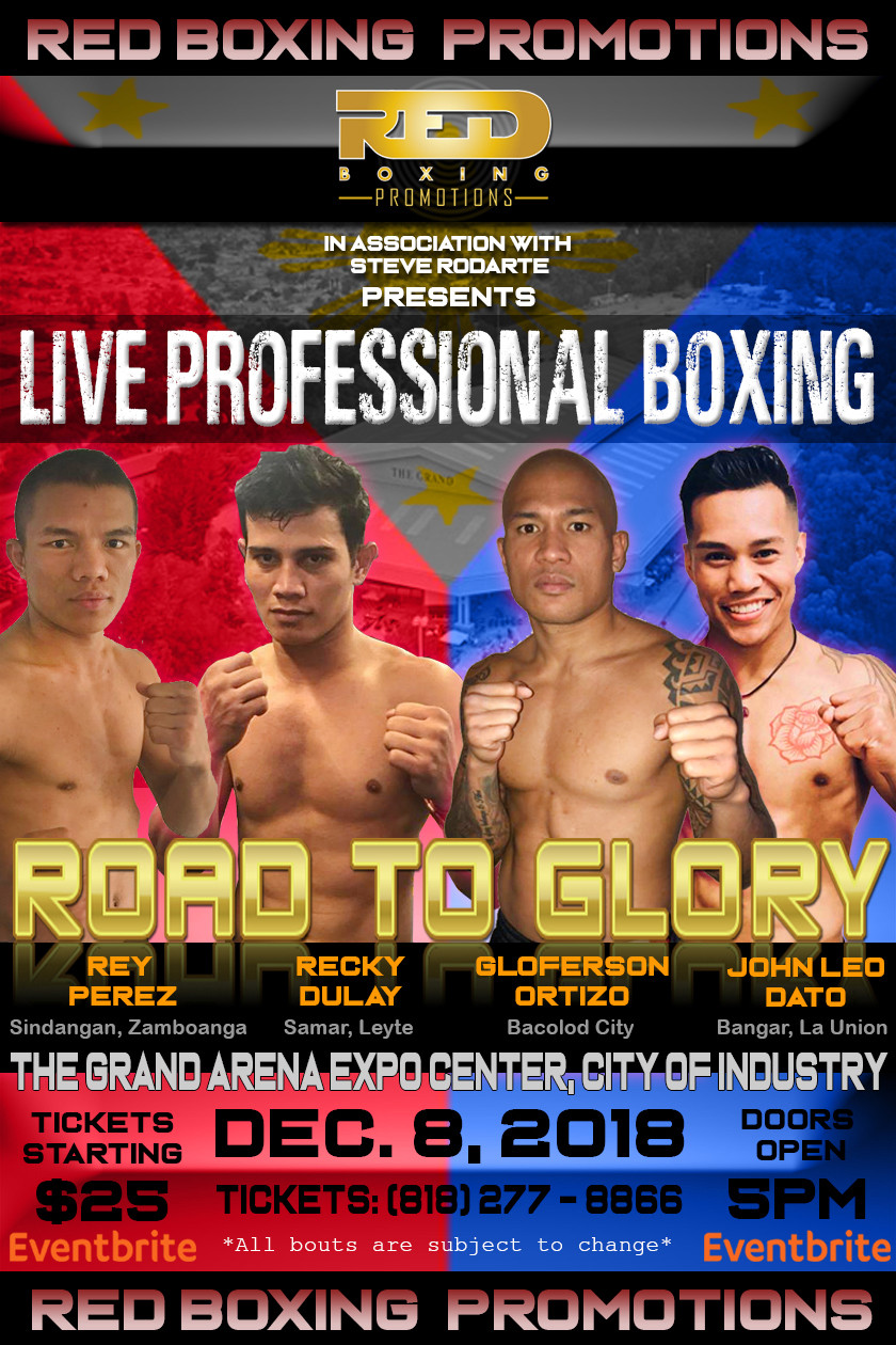 Live Professional Boxing Filipino fighters