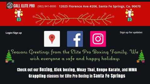 Elite Pro Boxing: Membership Xmas Discount