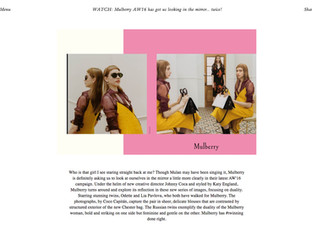 Mulberry AW16 has got us looking in the mirror... twice! | LOVE magazine