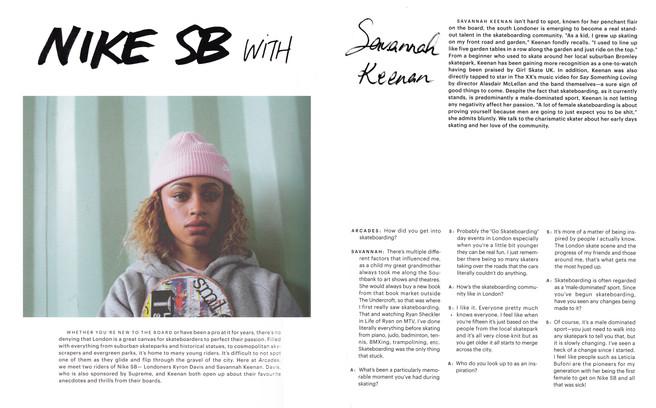 Nike SB with Savannah Keenan | Arcades Magazine