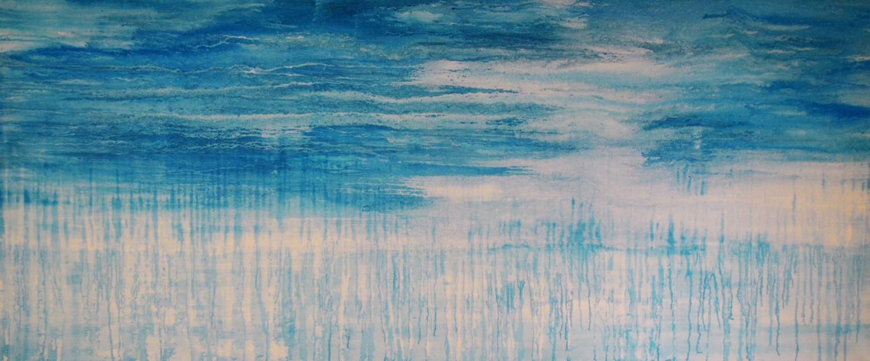 Grosser Himmel 200 x 85 Acryl auf Leinwa