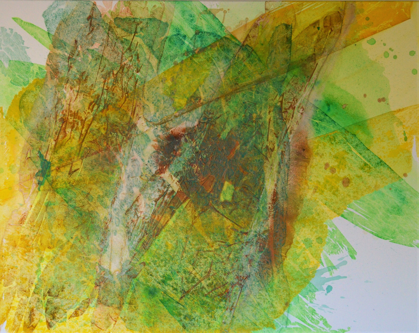 Algen 120 x150 cm Acrylfarbe auf Leinwan