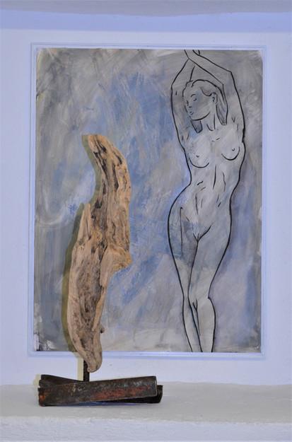 Ensemble Torsion 60 x 80 cm Acryl, Tusch