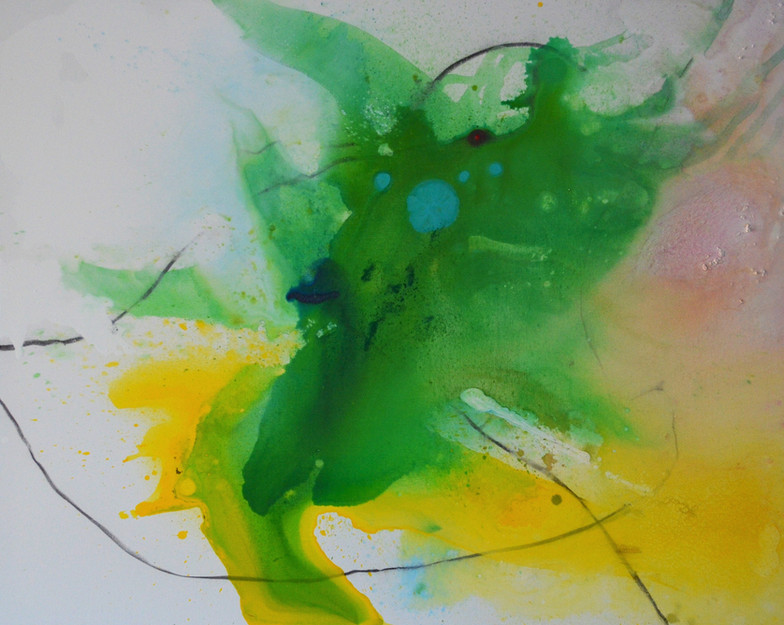 Schwemme 1 120 x 150 cm Acrylfarbe, Kohl