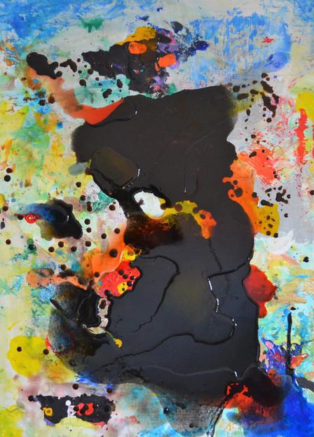 Miro 50 x 70 cm Acryl, Giessharz, Kollag