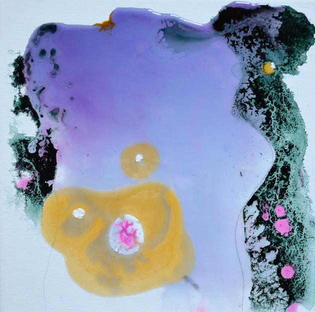 clear violett 30 x 30 cm Acrylfarbe und