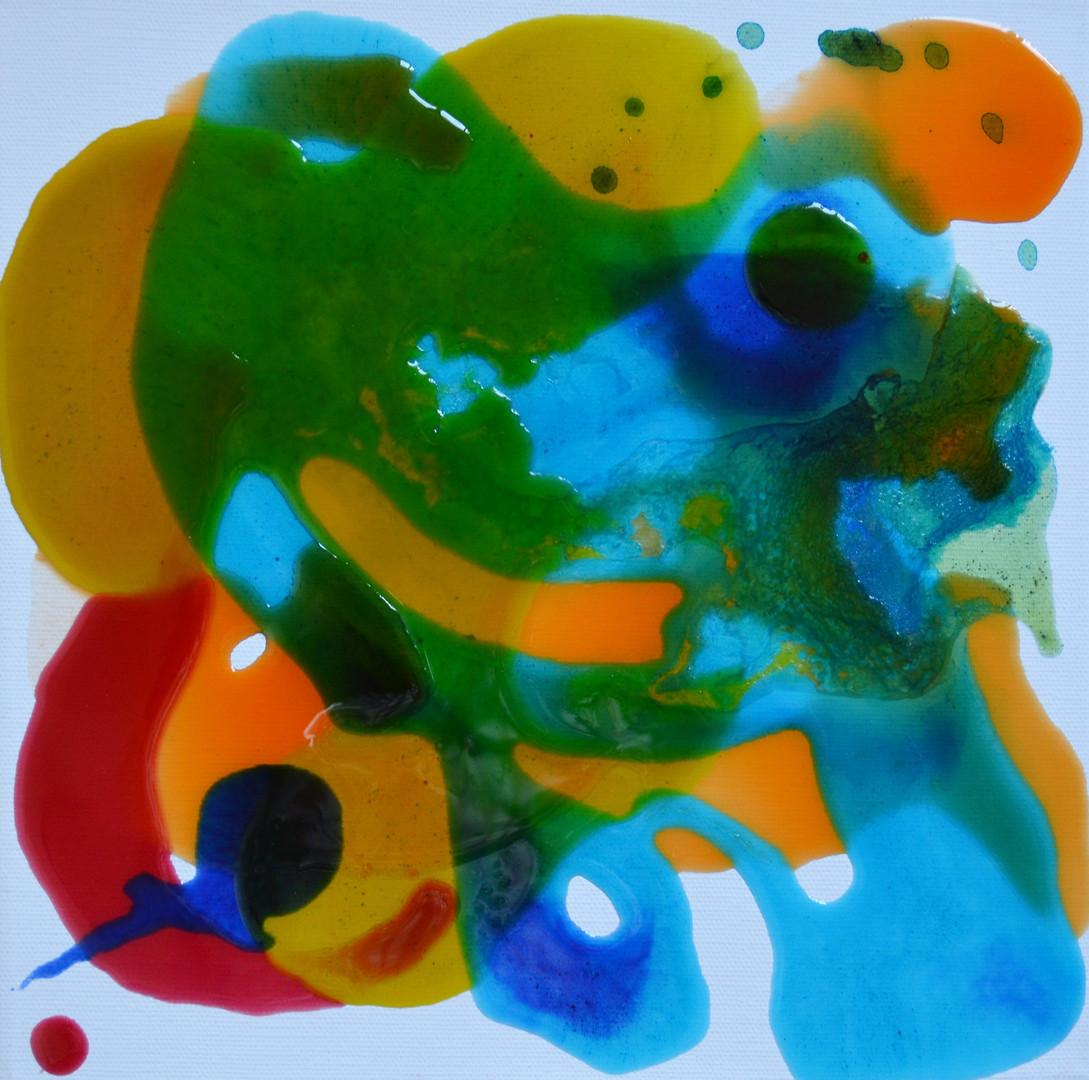 red dot meets blue top 30 x 30 cm Giessa