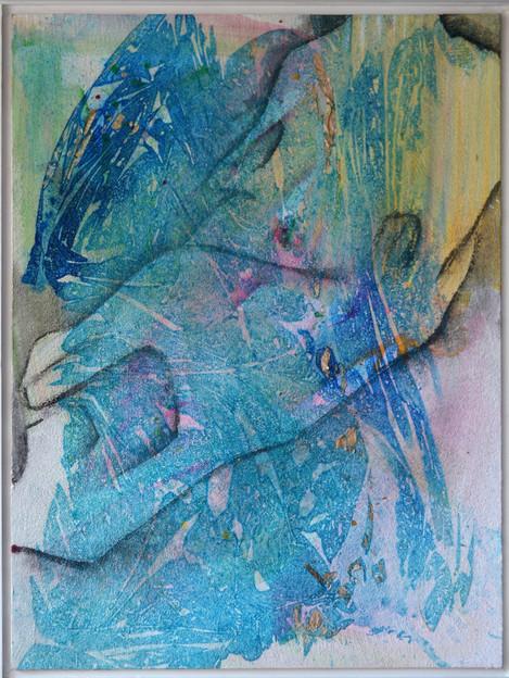 Schwemmherz 60 x 80 cm Acrylfarbe, Sand,