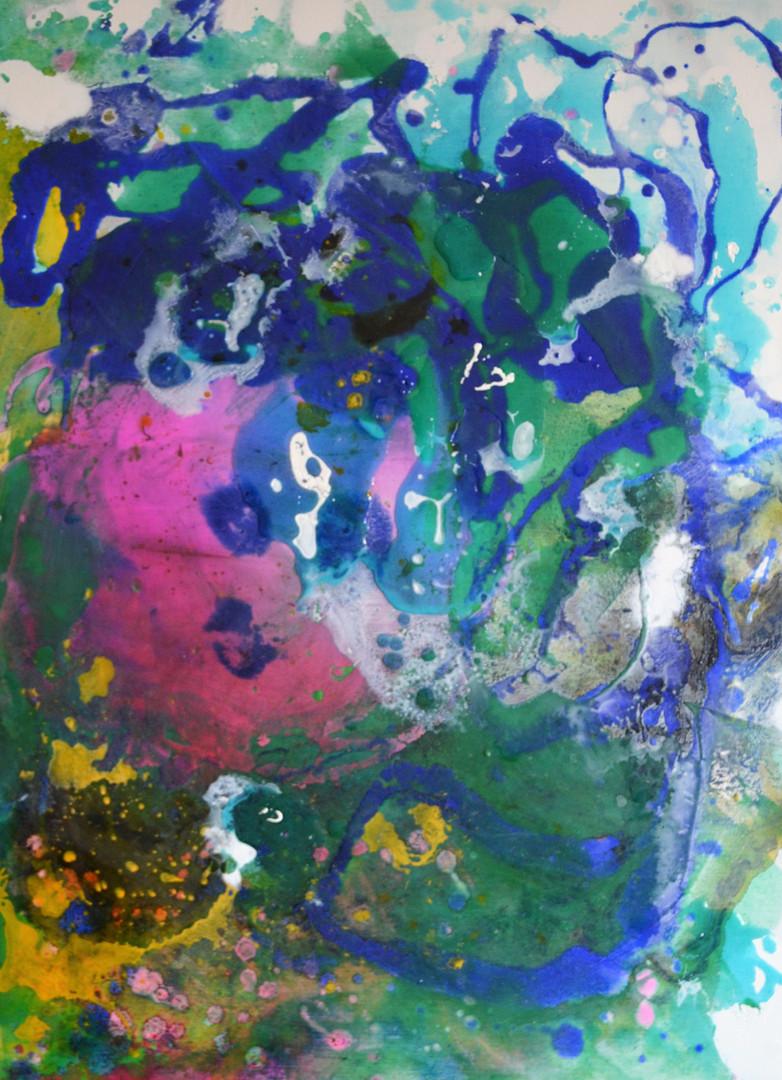 60 x 80 Hidden Pink Acrylfarbe und Giess