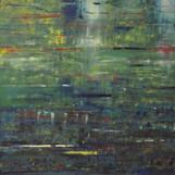 Teich 70 x 100 cm Ölfarbe