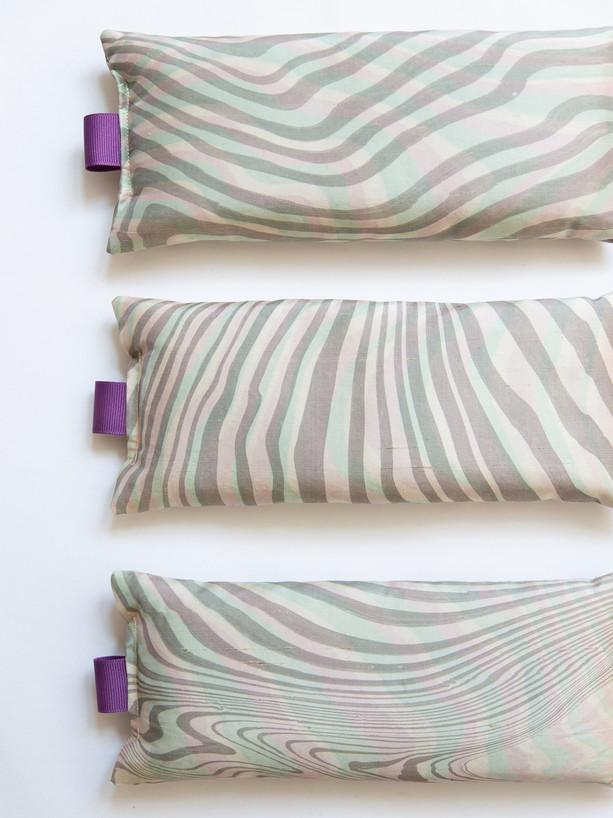 Suminagashi Silk Eye Pillows