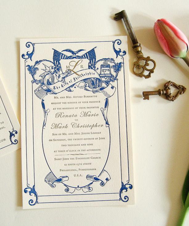 The Philadelphia Wedding Invitation Set