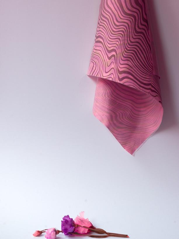 Suminagashi Silk