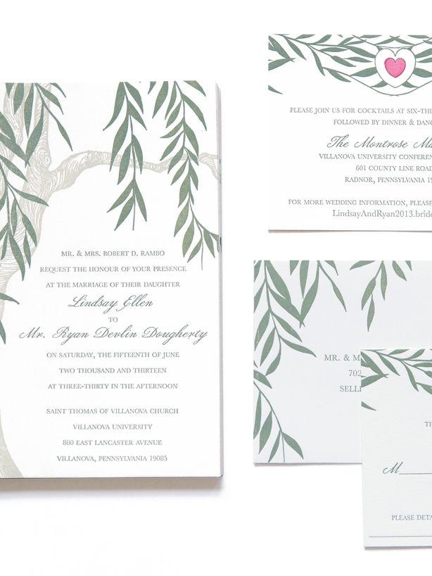 Willow Wedding Invitation Set