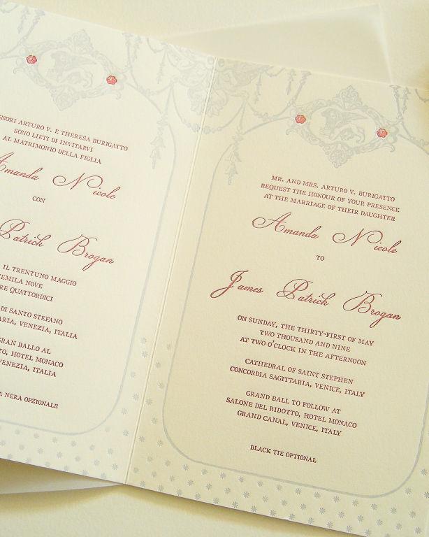 The Venetian Wedding Invitation Set
