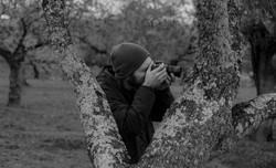 Foto durante la grabación y el shooting de Ibéricos la encina