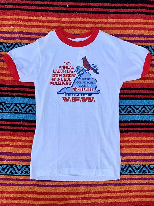 Vintage Hillsville Flea market ringer T shirt size Small