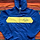 Thumbnail: Vintage Norte Dame Irish blue and yellow lightweight jacket size small/medium