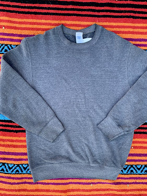 Vintage faded gray blank sweatshirt size Medium