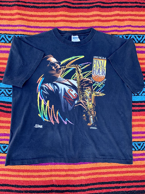 Vintage 1993 NCAA Final Four New Orleans black t-shirt size XL