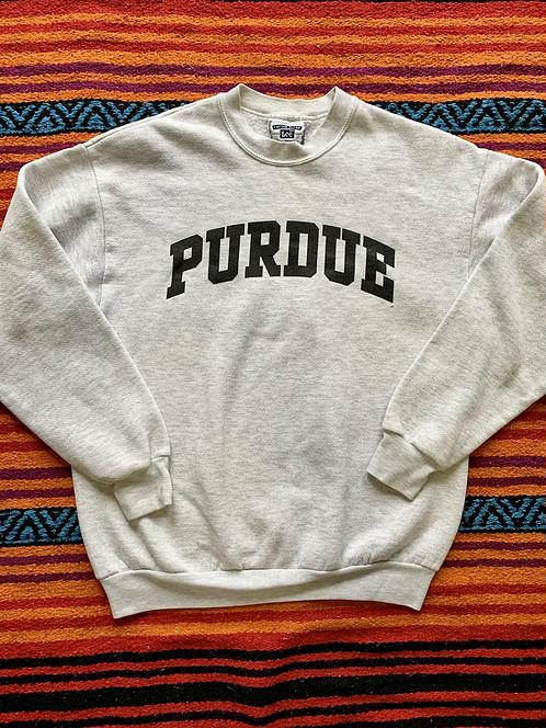 Vintage Purdue University gray sweatshirt size large