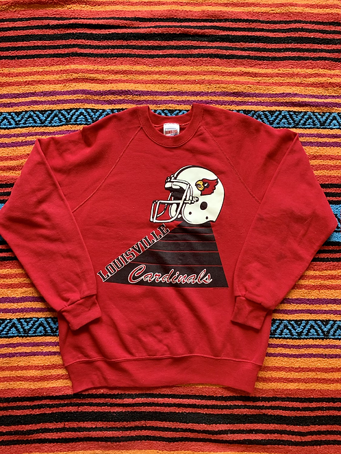 Vintage University of Louisville Cardinals football red sweatshirt size large