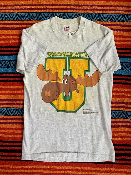 Vintage Bullwinkle college T shirt size large