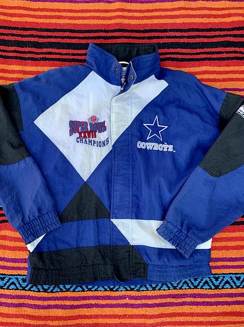 Vintage Super Bowl 1993 Dallas Cowboys color block windbreaker size large