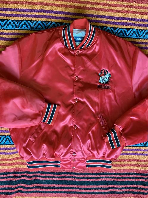 Vintage Georgia Bulldogs red varsity jacket size large